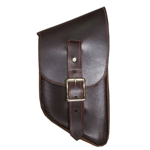 Bit Bag - Black / Brass / Right Side - Leather