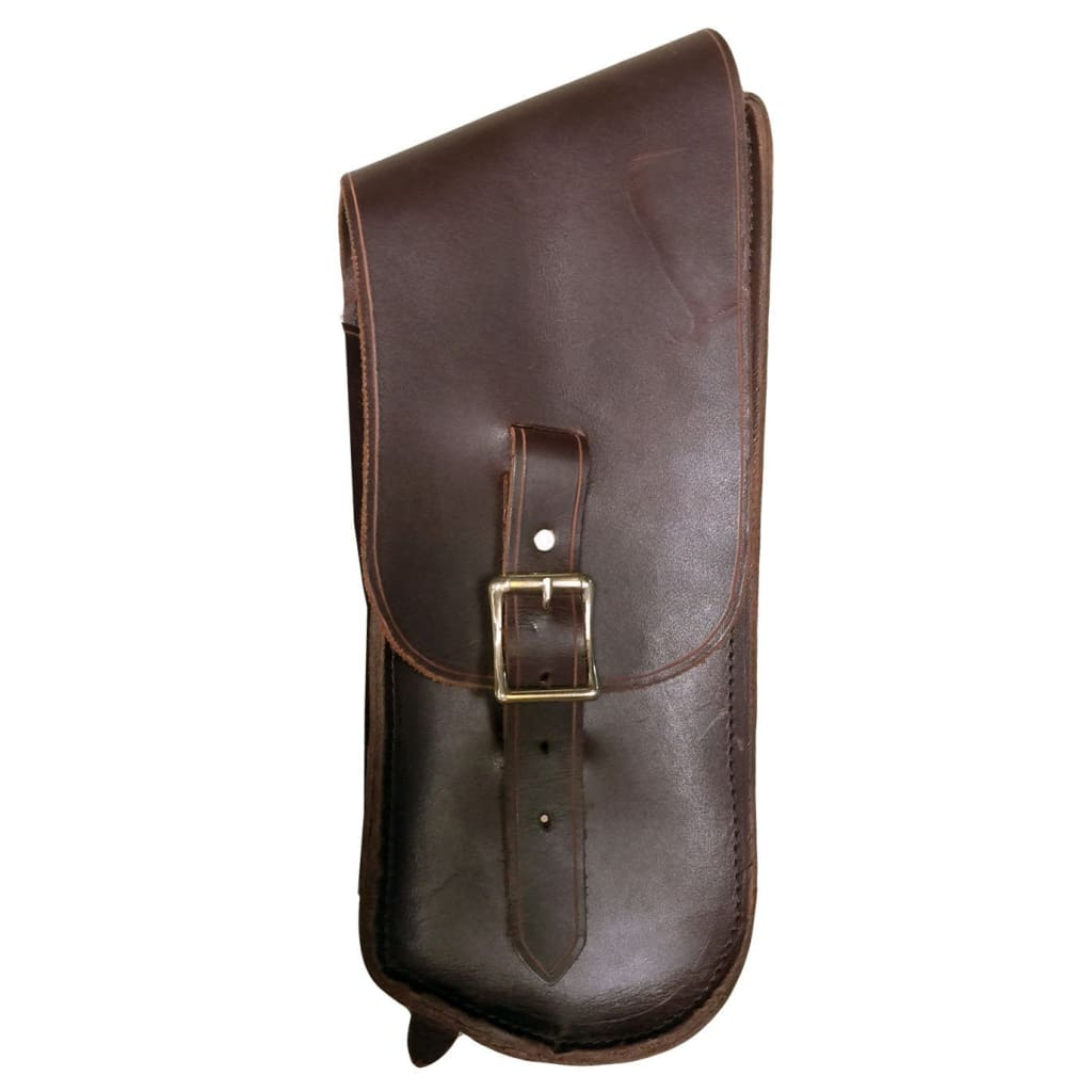 Bullet Bag - Brown / Brass / Left Side - Leather