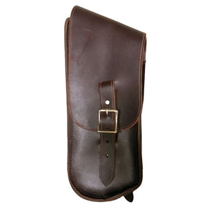 Bullet Bag - Brown / Brass / Right Side - Leather