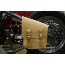Half & Half Bag - Natural / Brass / Left - Leather