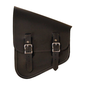 Inside Out Bag - Black / Brass / Right - Leather