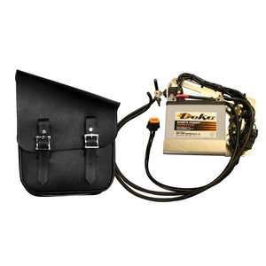 Juice Bag - Half & Half Bag / Black / Brass - Leather