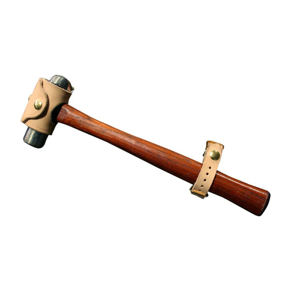 Leather Hammer Hanger - Natural / Brass - Leather
