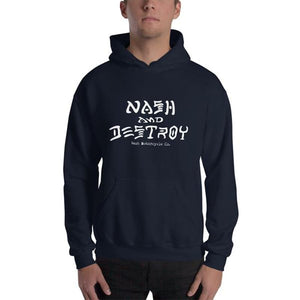 Nash and Destroy Hooded Sweatshirt - White Print (4 color options) - Apparel