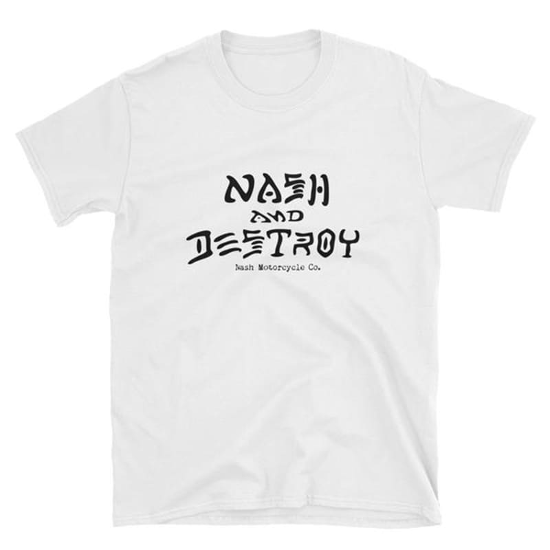 Nash and Destroy T-Shirt - White - Apparel