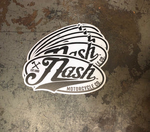 "Nash Co. logo - two color mylar Sticker 4"" x 3"""