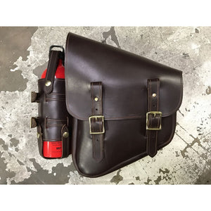 Nashty Fuel Bag - Brown / Brass / Left - Leather