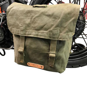 *NEW* Mission Canvas Saddle Bag - Leather
