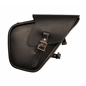 Sporty Sack - Black / Brass / Right / Blinker Flap - Leather