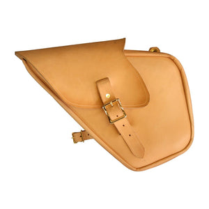 Sporty Sack - Natural / Brass / Left / Blinker Flap - Leather