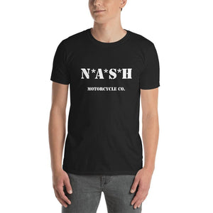 The Nash Mash short sleeve T - Black w/ White - S - Apparel