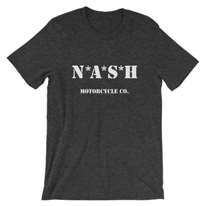 The Nash Mash short sleeve T - Dark Heather Gray w/ White - S - Apparel