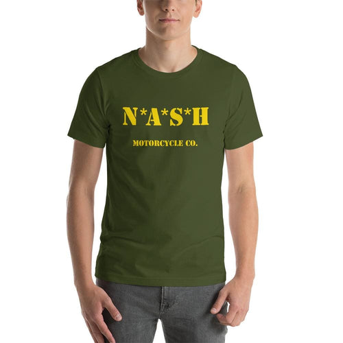 The Nash Mash short sleeve T - Olive w/ Yellow - S - Apparel
