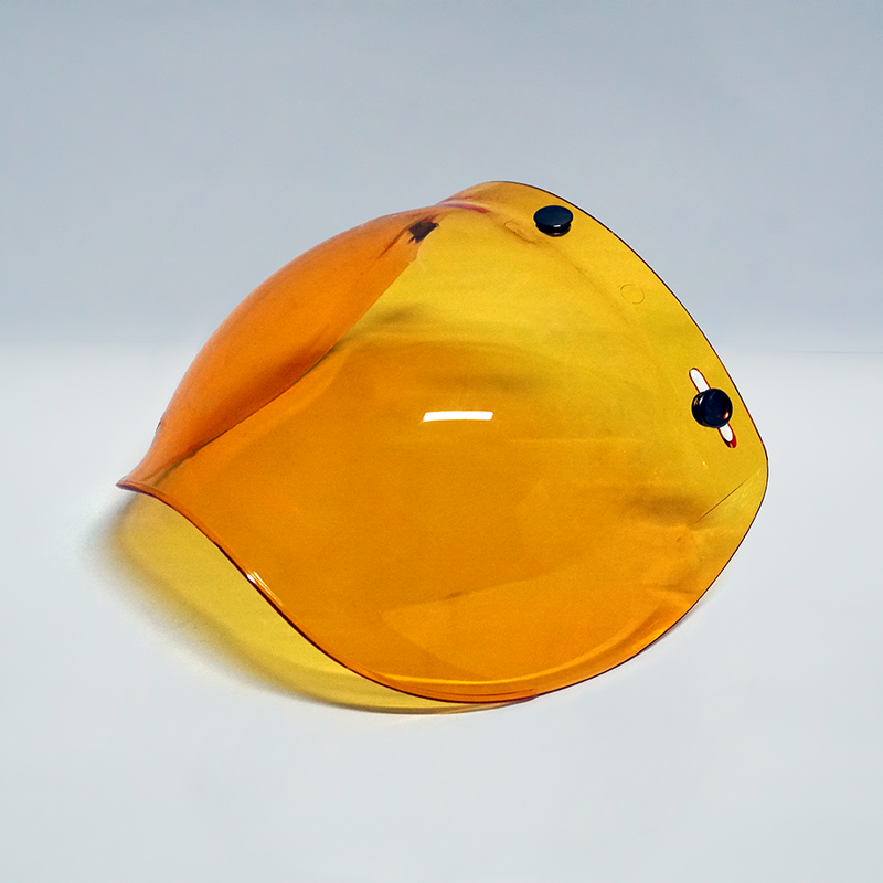 Wreckless Vivid Orange Bubble Visor