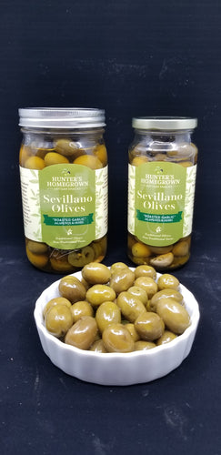 Sevillano Olives with Roasted Garlic, Jalapenos & Herbs