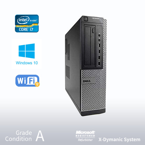 Refurbished DELL Optiplex 7010 Desktop, Intel i7 3770 3.4GHz/32GB /NEW 480GB SSD/ DVD/ Win10 Pro/Fast AC 600 WiFi USB