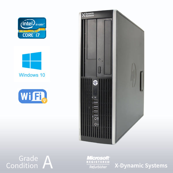 **5 Years Warranty** Refurbished HP Elite 8300  i7-3770/ 240GB SSD + 2TB HDD/ 16GB RAM/ DVD-ROM/ Win 10 Pro
