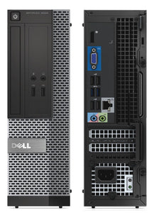 Grade A Dell OptiPlex 3020 4th Gen i5-4570 3.2Ghz / 8GB DDR3 / 120GB SSD / DVD / Win 10 Pro / Wifi USB / New Keyboard Mouse