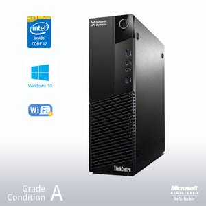 Refurbished Lenovo PC ThinkCentre M93  SFF Intel Core i7 4770 / 16GB / 512GB SSD /No Optical Drive / Windows 10 Pro
