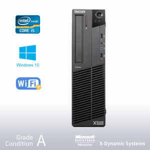 Refurbished Lenovo ThinkCentre M91p SFF Intel Core i5-2400 3.1GHz/ 16GB / 1TB HDD / DVD-ROM/ Windows 10 Professional