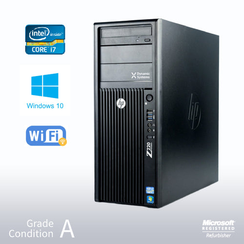 ***Customized Gaming HP Z220 Workstation*** Intel Core i7-3770 3.4GHz/ Nvidia GTX1650 Super 4GB Gaming/ Win 10 Home/ VR Ready