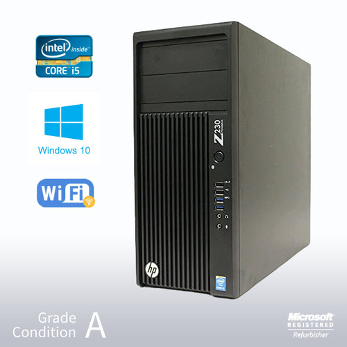 Refurbished-HP Z230 Gaming Workstation/ Intel Core i5-4570 3.2GHz / 16GB RAM / 1TB HDD / Nvidia GTX1650 4GB / Win 10 Home