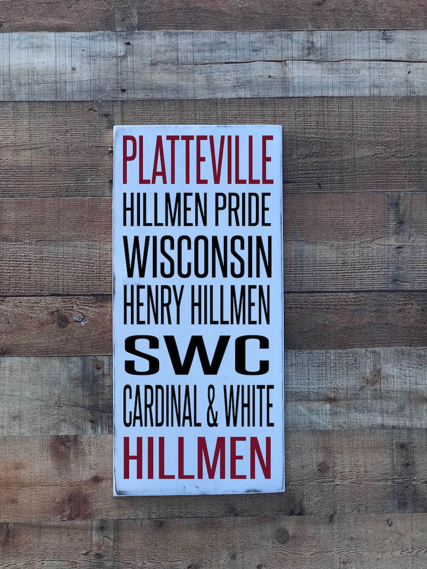 Platteville Hillman Subway Art Sign
