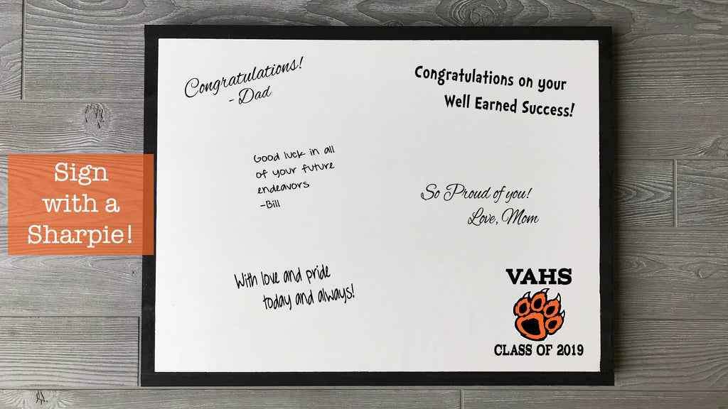 VAHS Graduation Signature Board