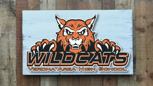 Wildcats Verona Area High School Sign