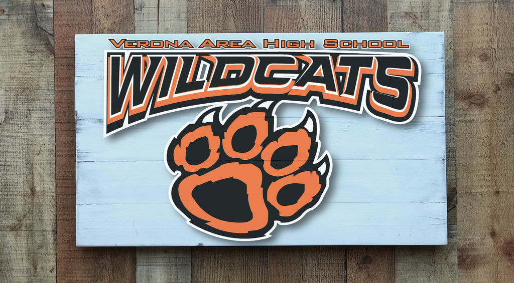 Wildcats Paw Verona Area High School Sign