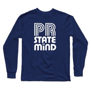 PR State of Mind Navy Long Sleeve Tee