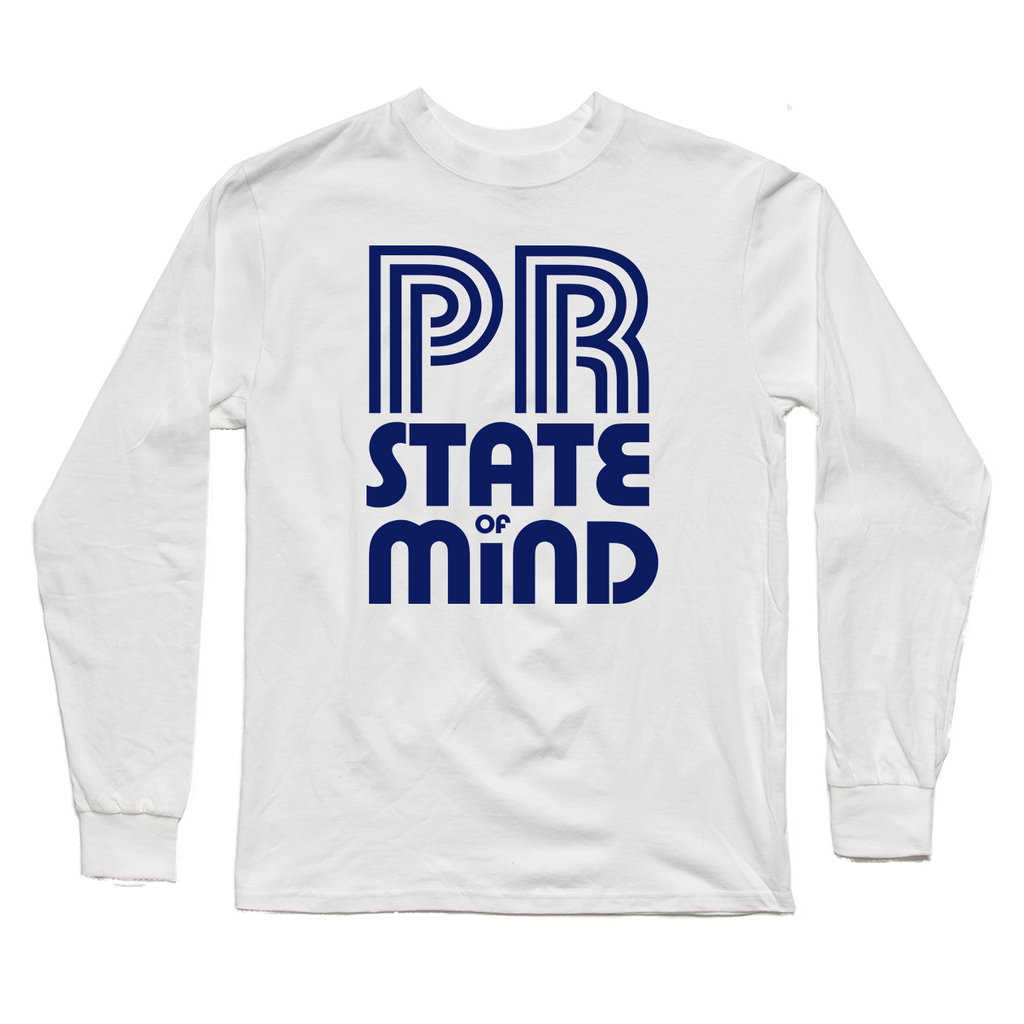 PR State of Mind White Long Sleeve Tee