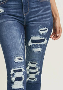 Patched Up Skinny Jeans