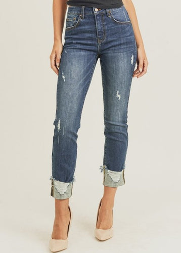 Rough Edges Skinny Jeans