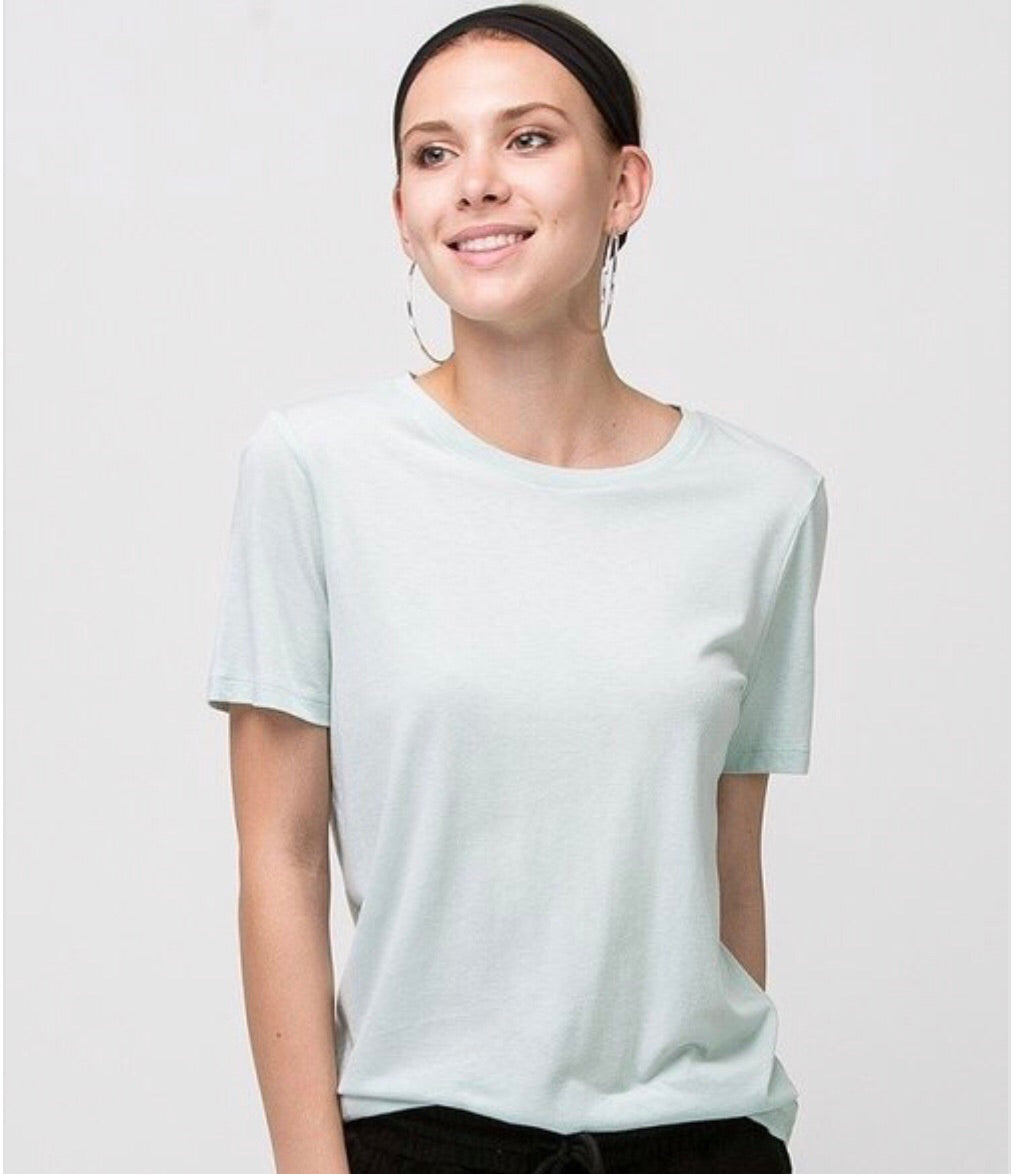 Washed Out Basic Tee - Green Apple