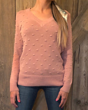 Classic Pom Sweater (Blush or White)