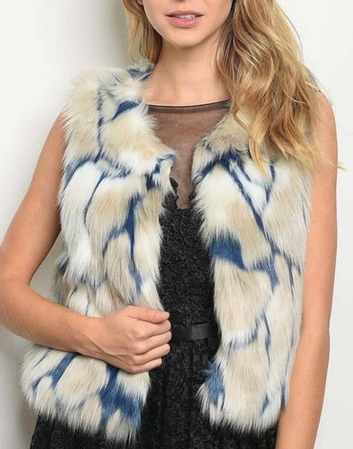 Denim N' Fur Vest