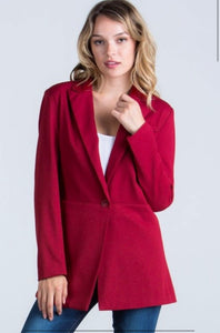 Strictly Business Blazer - Scarlet