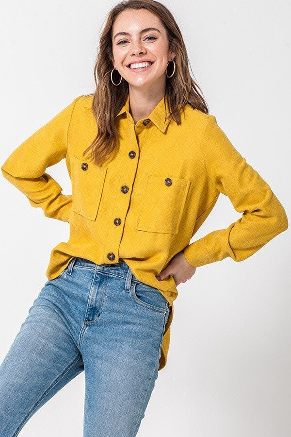Button It Up - Mustard