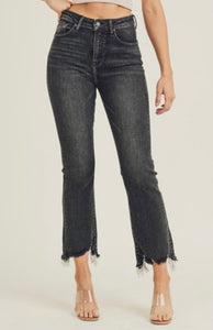Fade Away Black Cropped Jeans