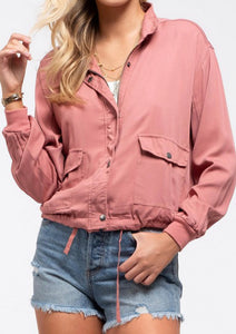 BLUSHING BOMBER JACKET