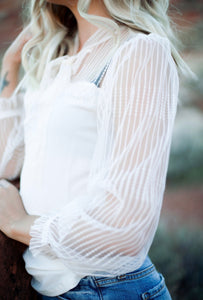 Bows N' Lace Blouse - Ivory