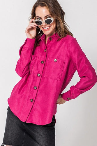 Button It Up - Hot Pink