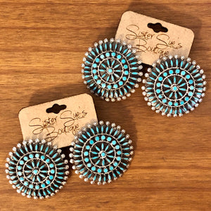Zuni Needlepoint Earrings