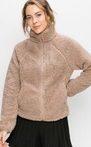 Sherpa Cozy Jacket - Teddy
