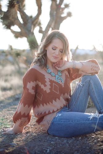 Rusty Ridge Aztec Sweater