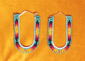 Southern Sunset Beaded Earrings