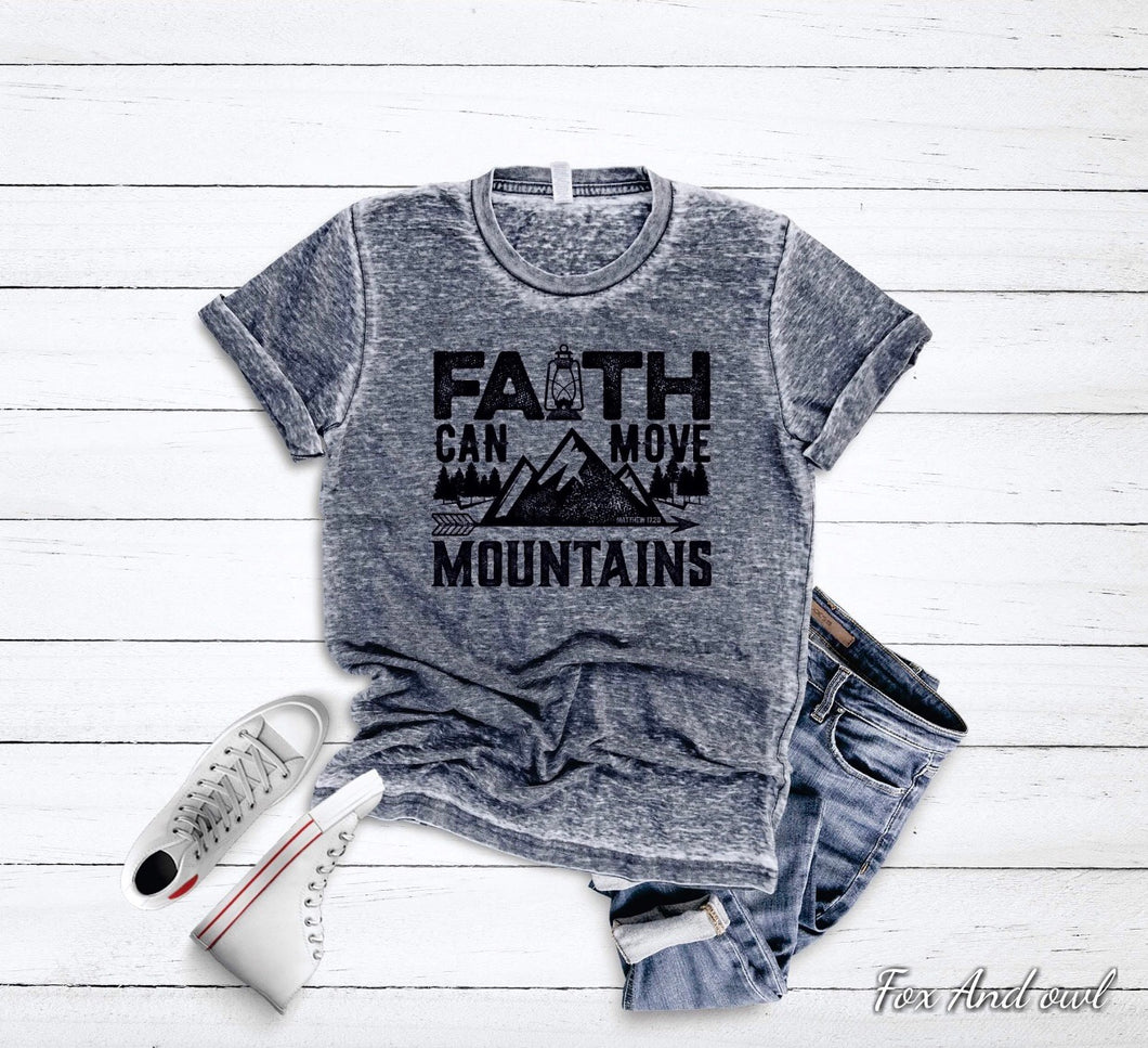 Faith Acid Wash Tee