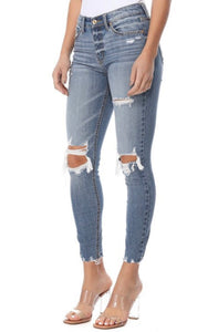 Clara Cropped Distressed Skinny Jeans