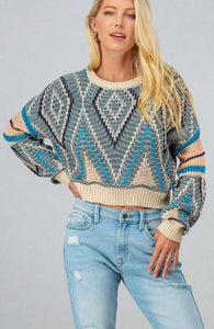 Cropped Crestridge Sweater